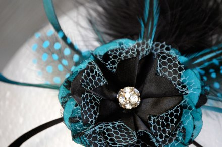 Jada Teal Fascinator by Catfight Craft
