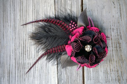 Pink Nightshade Fascinator by Catfight Craft