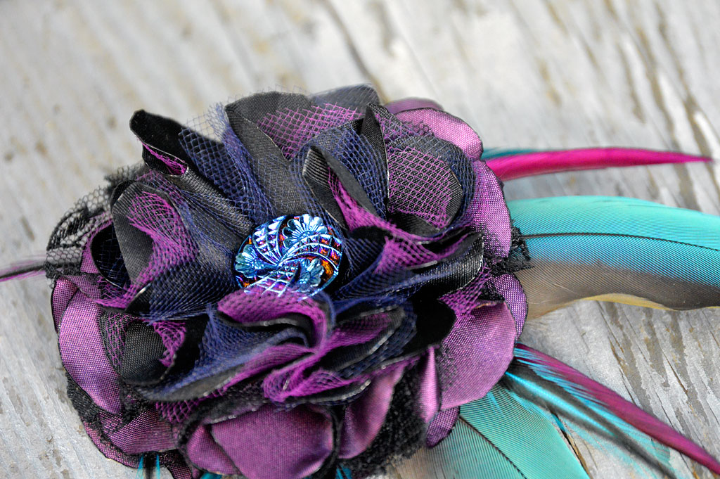 Twilight Tempest Fascinator by Catfight Craft