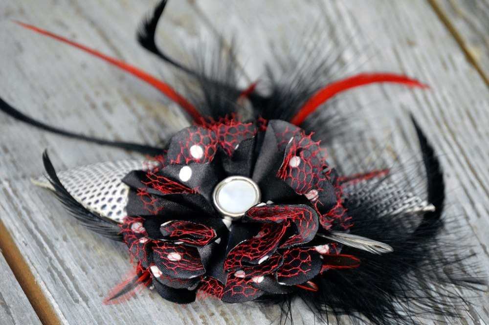 Handcrafted Leather & Lace Fascinators—on Etsy (3/3)