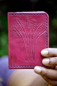 Magenta Wheat Fields Wallet on Etsy