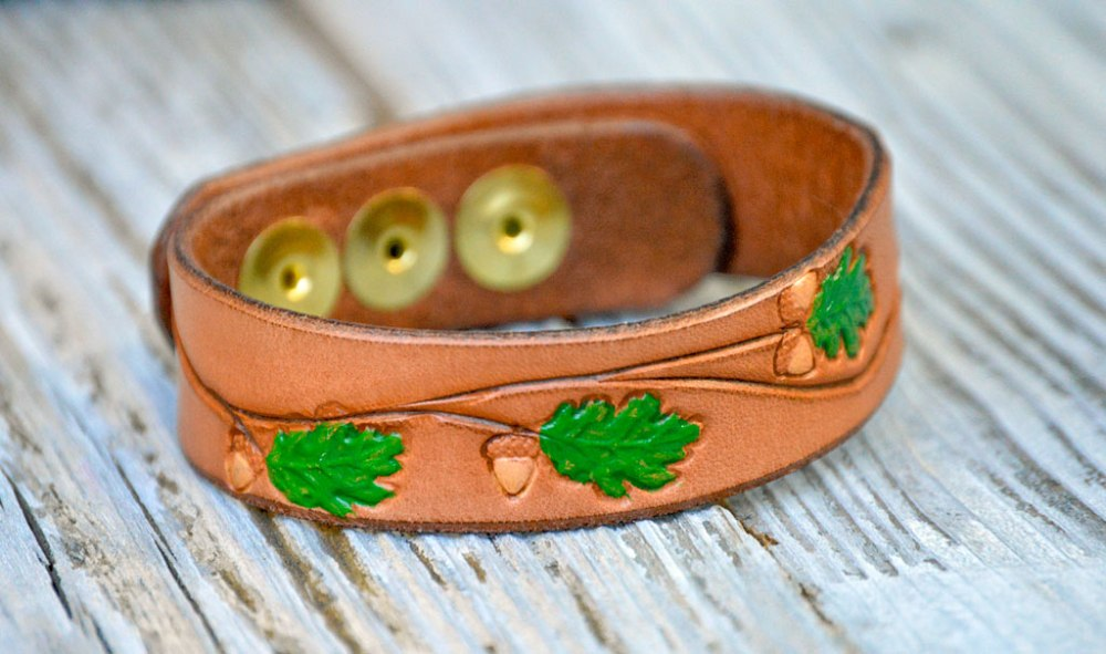 Handcrafted Leather Bracelets by Dad—on Etsy (5/5)