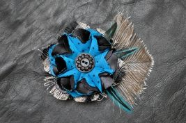 Blue Bombshell Fascinator