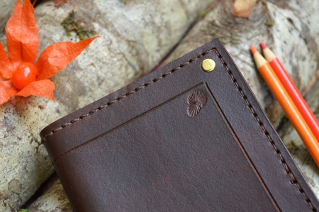Corner Accent Brown Leather Journal
