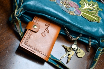 Decorative Flower Journal by Dad's Leather Works
