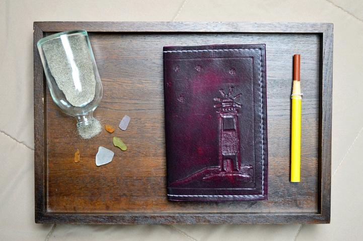 Purple Lighthouse Leather Journal