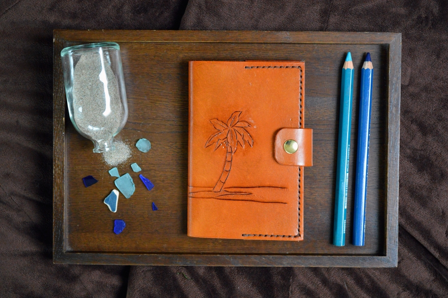 Palm Tree Leather Journal