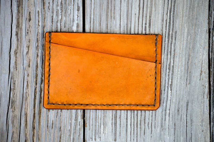 Minimalist II Handcrafted Leather Wallet by Dad on Etsy