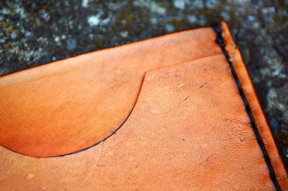 Minimalist Leather Wallet by Dad on Catfight Craft