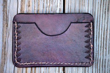 Purple Patterned Wallet by Dad on Etsy