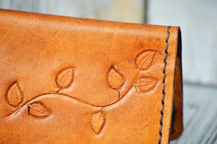 Stamped Leaves on a Branch Wallet by Dad