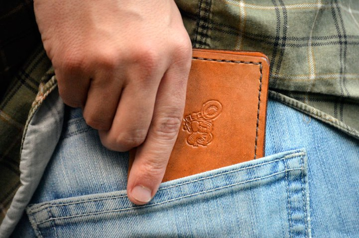 Harley Motorcycle Leather Wallet by Dad on Catfight Craft