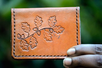 Oaks n Acorns Handcrafted Leather Wallet by Dad on Etsy