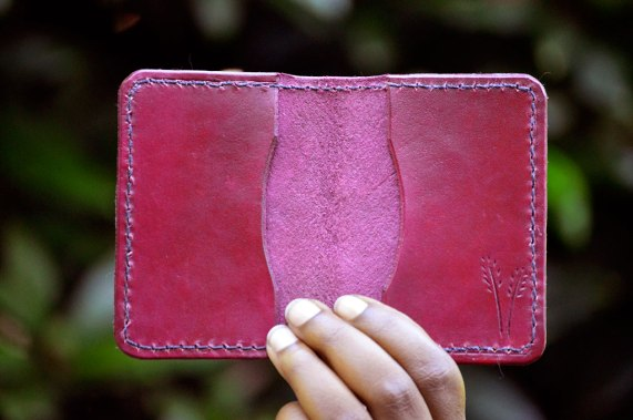Magenta Wheat Field Wallet by Dad