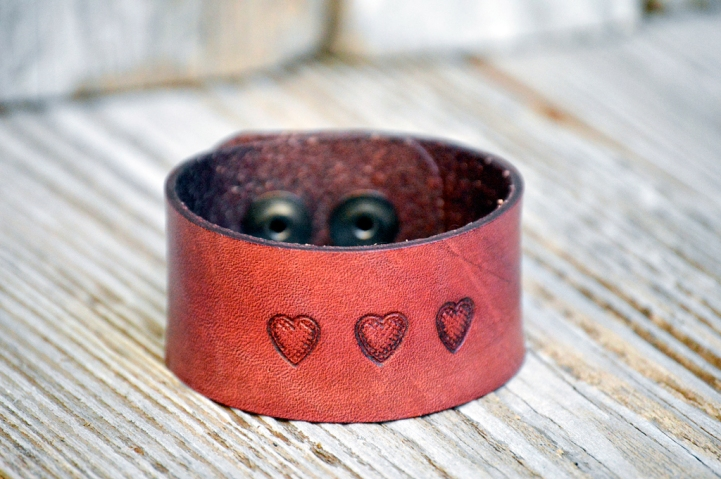Heart in Pink Leather by Catfight Craft