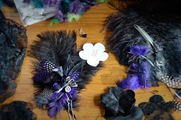 Catfight Craft Custom Hair Clip in Purple