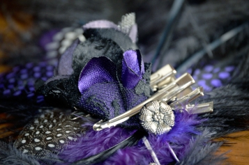 Catfight Craft Custom Hair Clip in Purple
