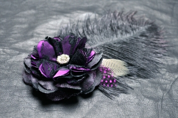 LeatherAndLace Purple Fascinator