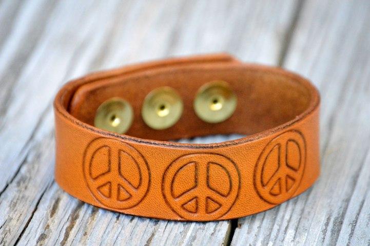 Brown Peace Trio Bracelet on Catfight Craft