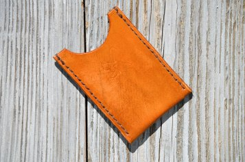 Handcrafted Eagle Skinny Leather Wallet