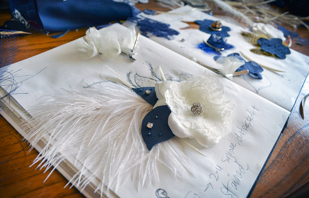 Custom Wedding Clip Design in Navy and Ivory