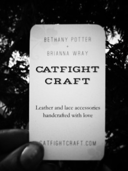 Catfight Craft business cards!