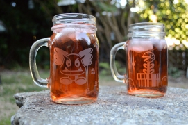 Acid Etched Cups