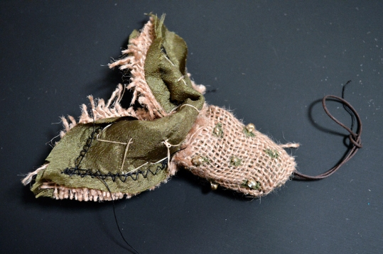 Burlap Ornament in the Making