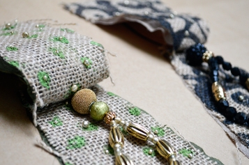 Burlap Ornament in the Making