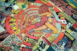 Comic Book Record Cover Closeup