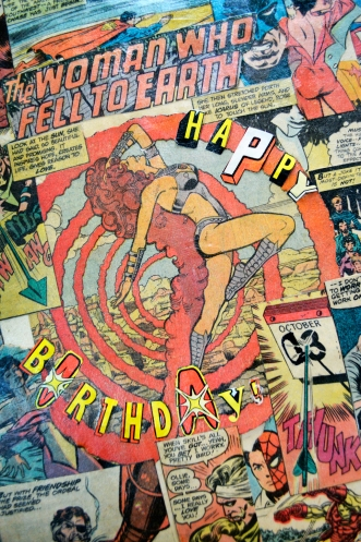 Comic Book Record Cover Closeup