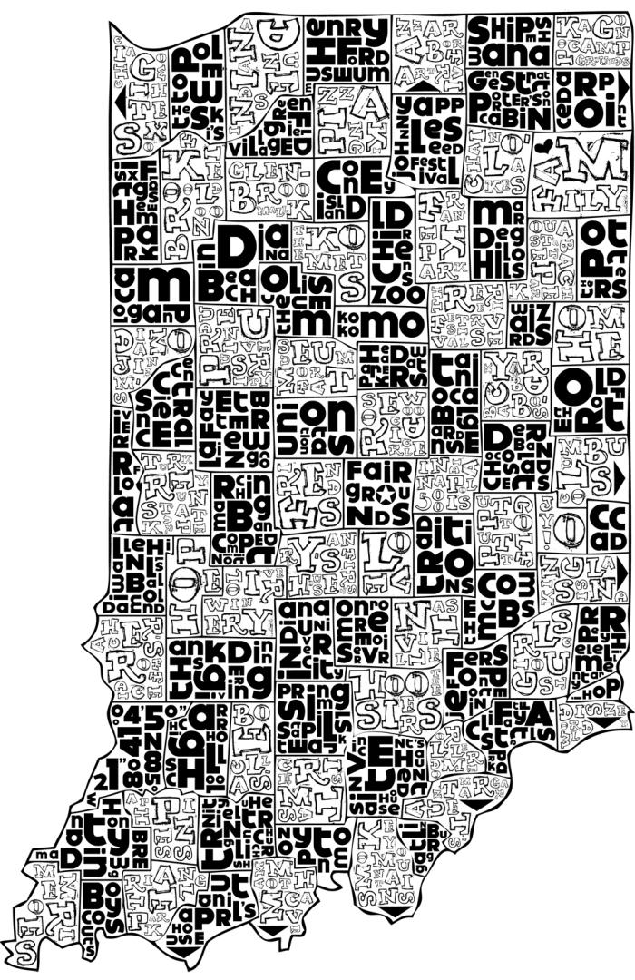 Indiana Map o fMemories