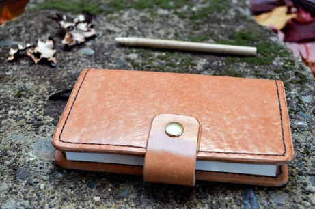 Natural Leather Journal with replaceable notebook