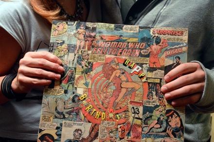 Repurposed Comic Art Record Sleeve by Garrett