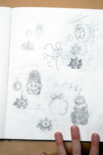 Sketchbook Comps for Acid Etched Cups