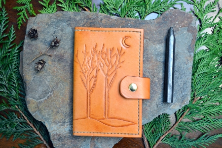 Winter Trees Leather Journal