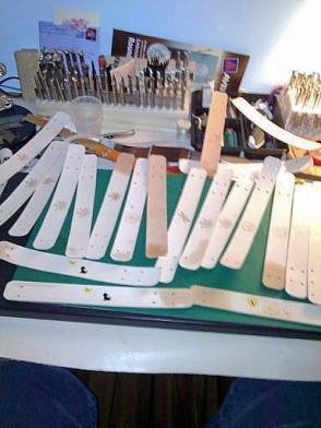 Doug Potter's Handmade Bracelets in Progress