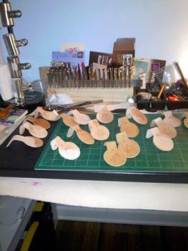 Doug Potter's Handmade Key Rings in Progress