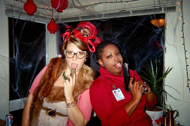 Halloween Ms Peacock and Lana 2014