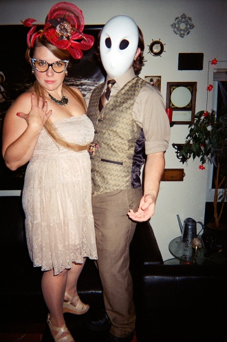 Halloween Owl and Ms Peacock 2014