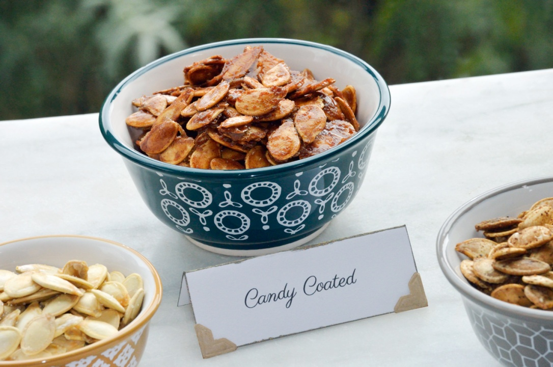 Candied Pumpkin Seeds by Catfight Craft