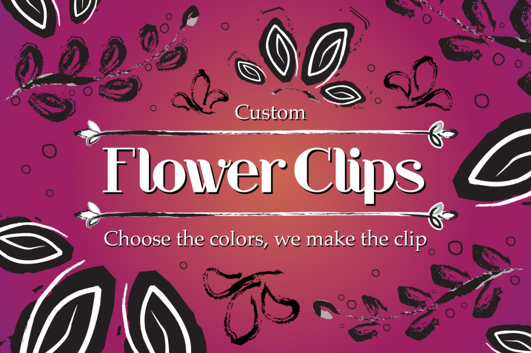Custom Flower Clips by Catfight Craft