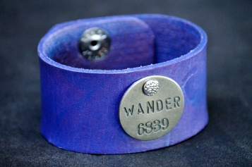 Purple Wander-Cuff by Catfight Craft