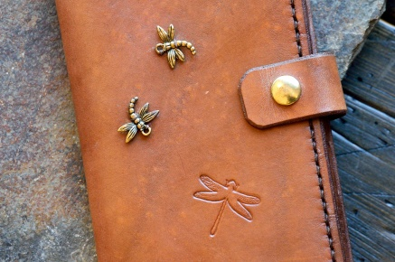 Dragonfly Brown Journal by Catfight Craft