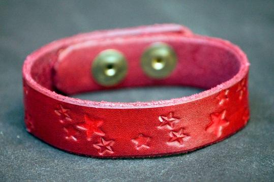 Red Stars Cuff by Catfight Craft