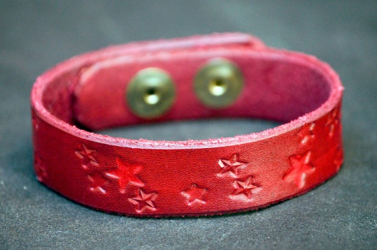 Red Stars Cuff by Catfight Craft