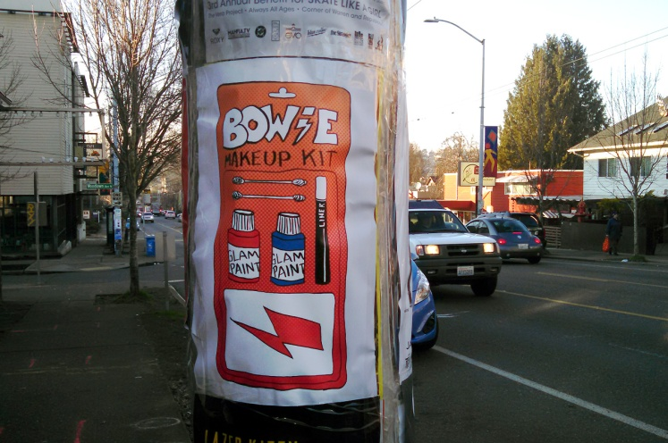 David Bowie Glam Kit Street Art