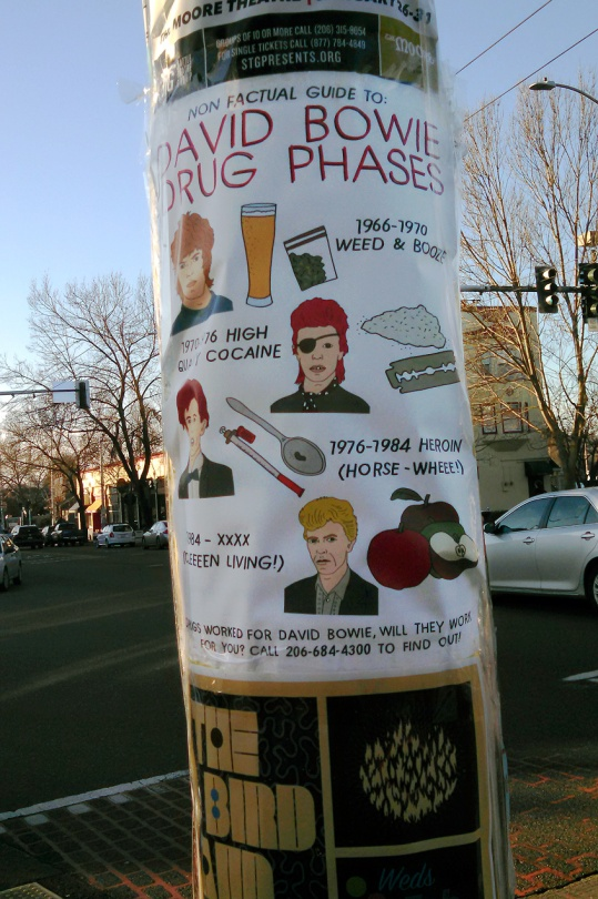 David Bowies Drug Phases Street Art