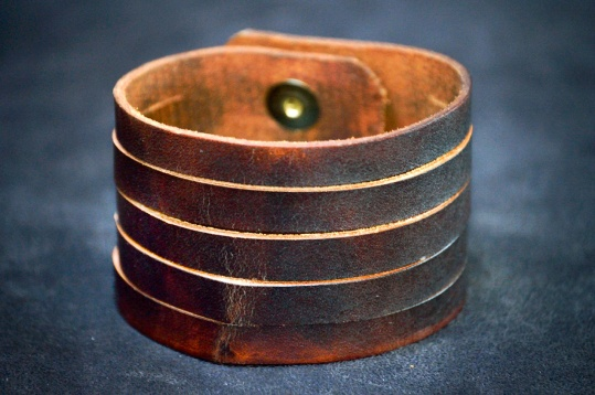 2inch Handmade Dark Brown Cuff by Doug Potter